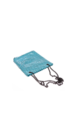 Turquoise Brass Shoulder Bag-2