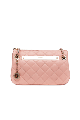Blush Quilted Leather Bag -0