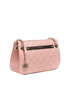 Blush Quilted Leather Bag -3