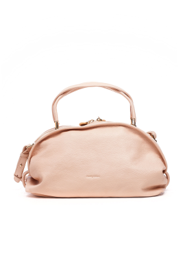 Nude Grained Leather Bag-0