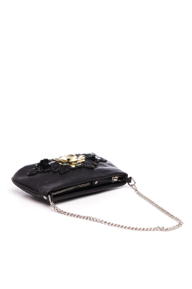 Black Beaded Clutch Bag-2