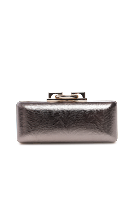 Metallic Stingray Effect Leather Clutch-0