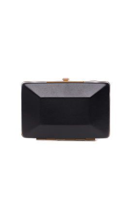 Box It Up Leather Clutch -0