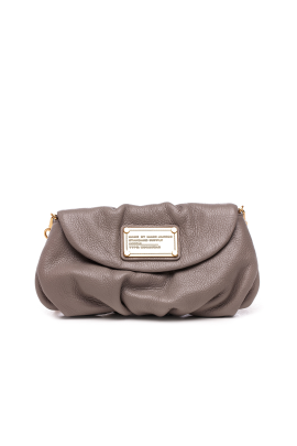 Grey Leather Mini Hand Bag-0