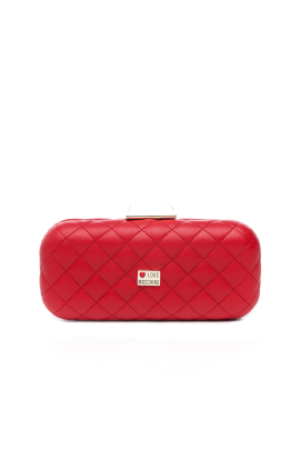 Red Mini Quilted Clutch Bag -0