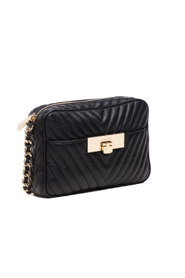 Suzannah Small Black Quilted Bag -2