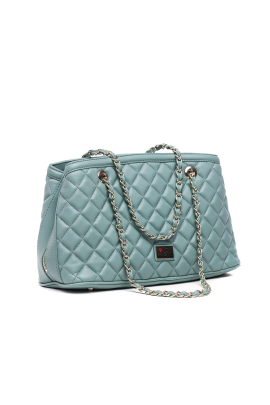 Quilted Light Blue Bag-2