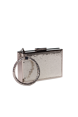 Silver Minaudiere With Bracelet-0