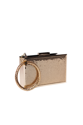 Gold Minaudiere With Bracelet-0