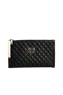 Black Quilted Eco Leather-0