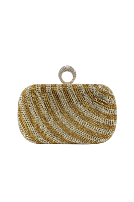 Gold Stripe Classic Clutch -0