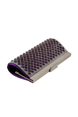 Purple Sparkling Clutch -2