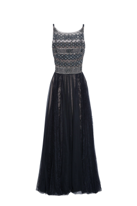 Embellished Tulle Gown -0