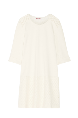 Cream Cotton Jersey Dress-0