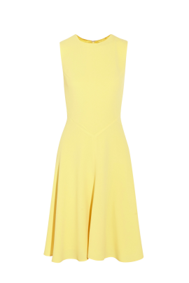 Light Yellow Crepe Dress-0