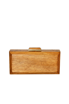 Natural Wooden Clutch-0