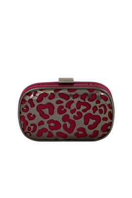Burgundy Cutout Clutch -0