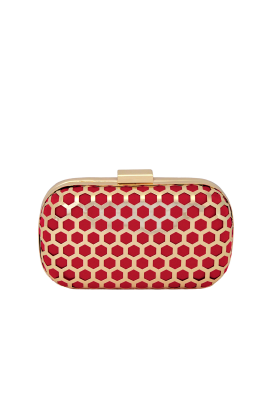 Red Palermo Clutch-0