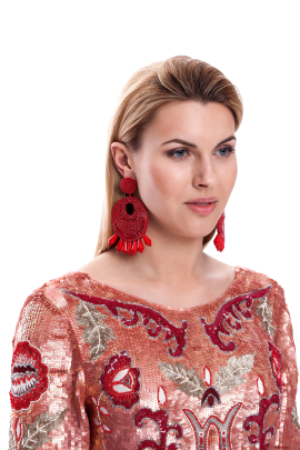 Red Gipsy Earrings -1