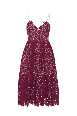 Azaelea Burgundy Dress-0