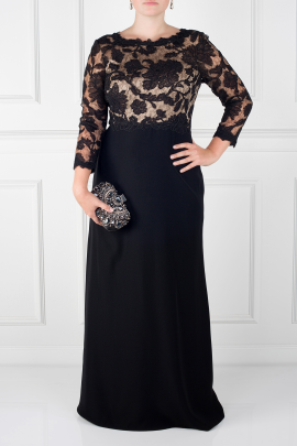 Black Peony Dress-0