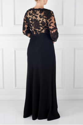 Black Peony Dress-1