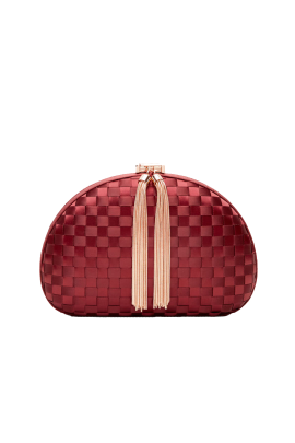 Lovie Burgundy Clutch / VILNIUS-0