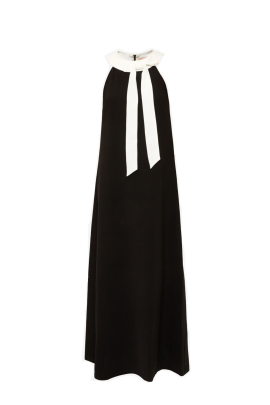 Neck Tie Maxi Dress -0