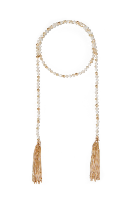 Tasseled Crystal Necklace-0