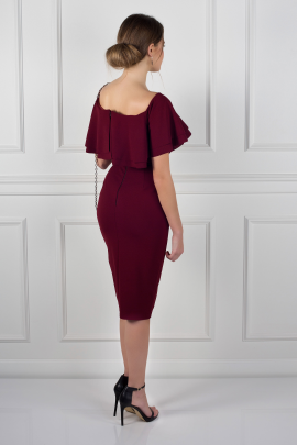 Double Ruffle Pencil Dress -1