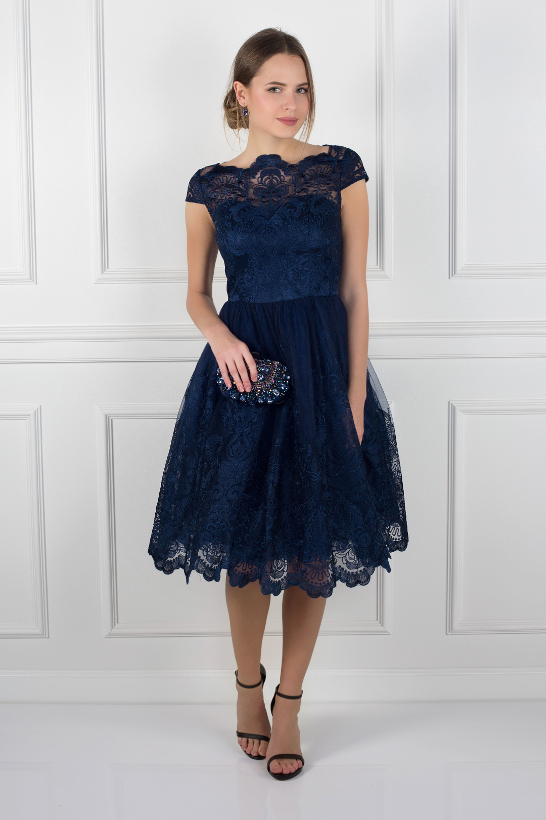 Navy April Dress