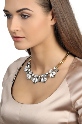 Crystal & Stone Necklace-1