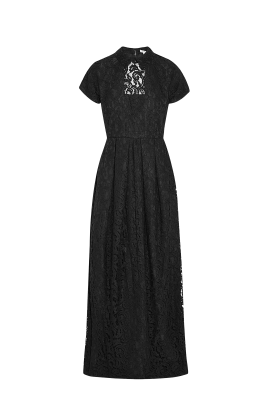 Black Guipure Gown-0