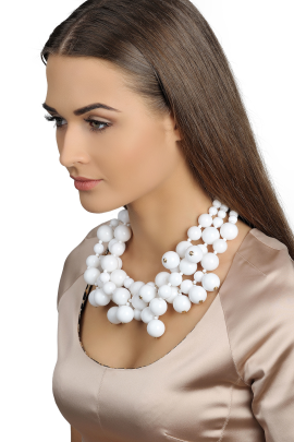 White Drops Necklace-1