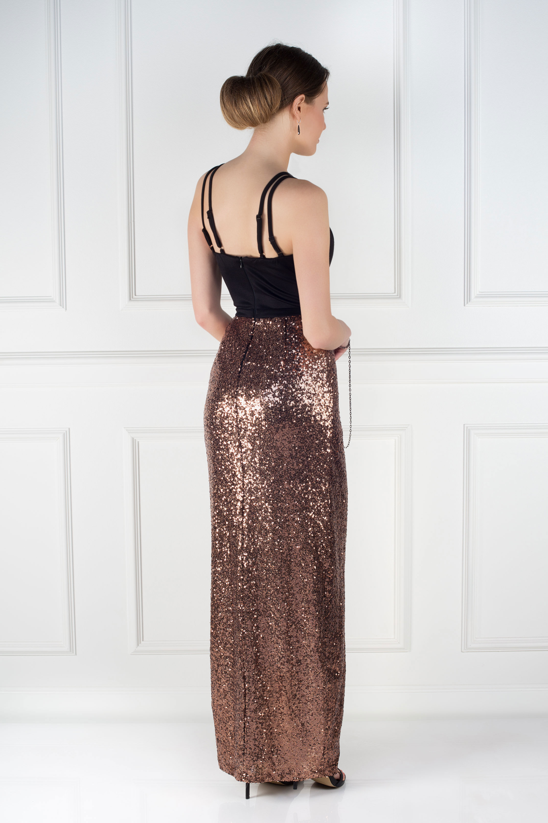 Cross Strap Sequin Dress