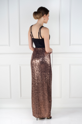 Cross Strap Sequin Dress -1