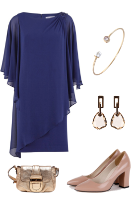 Navy Layered Dress-4