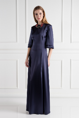 Navy Onyx Dress / VILNIUS-0