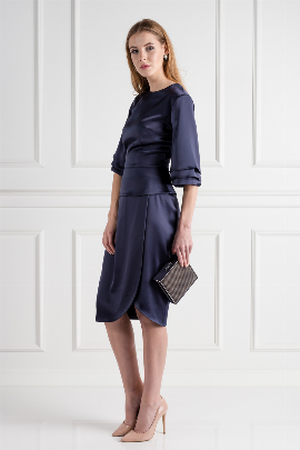 Navy Oxford Skirt Suit-0