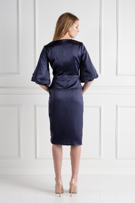 Navy Oxford Skirt Suit-1