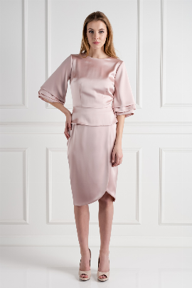 Blush Oxford Skirt Suit  / VILNIUS-0
