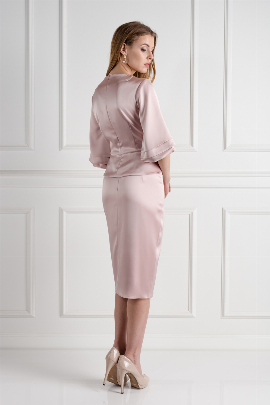 Blush Oxford Skirt Suit-1