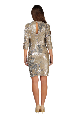 Nude Sequin Bodycon -2
