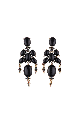 Black Gothic Earrings-0