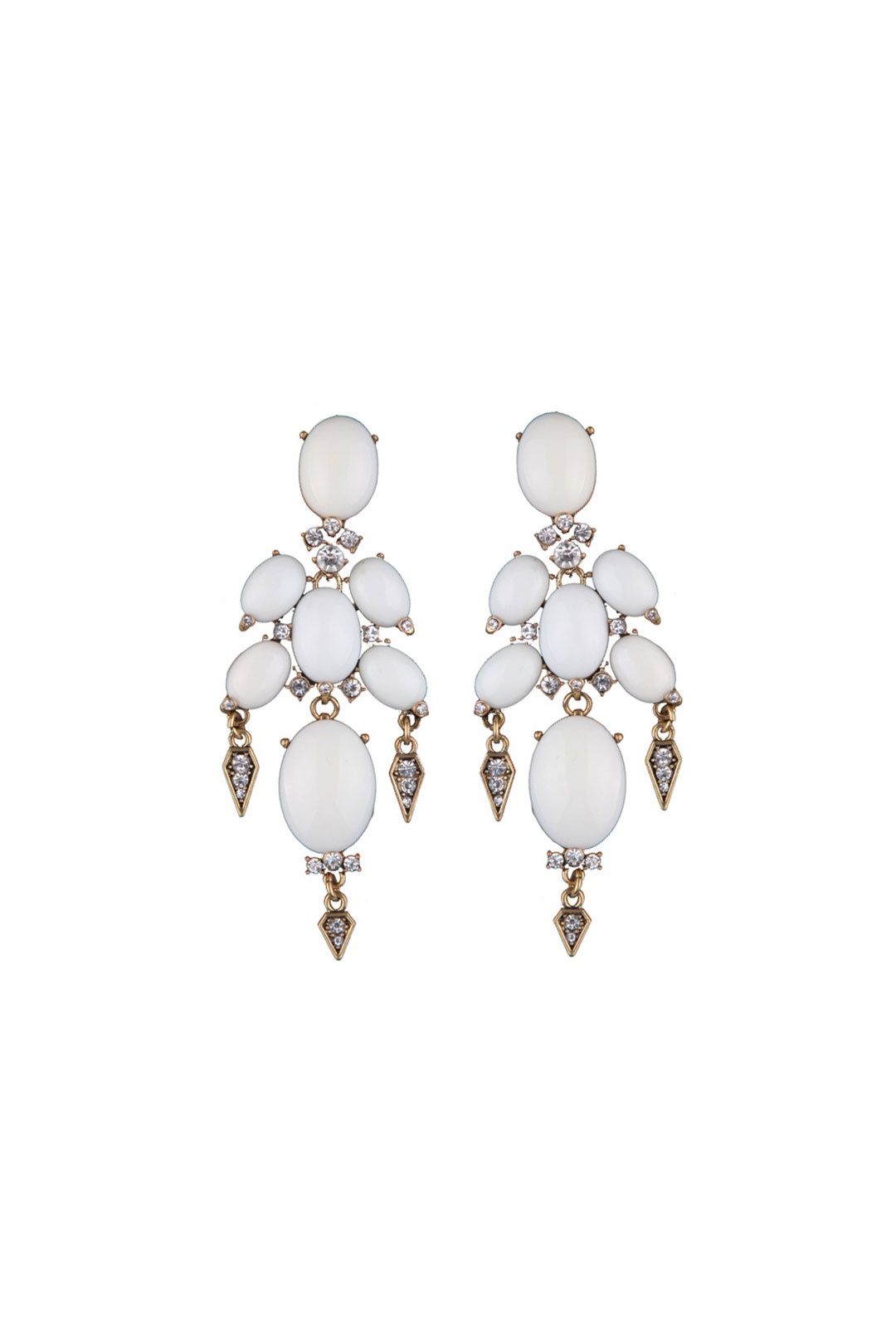 White Gothic Earrings