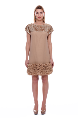 Coffee Coctail Dress-0