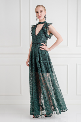 Eleanora Emerald Gown-2