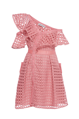 Pink Frill Mini Dress/VILNIUS-0