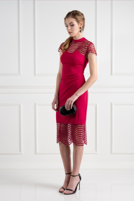 Red Lace Shift Dress / VILNIUS-1