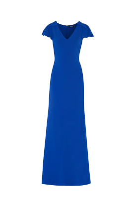 Indigo Stretch-cady Gown-0